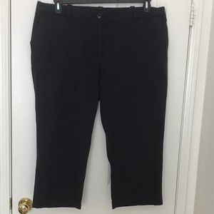 Lands' End navy chino crops, 18W